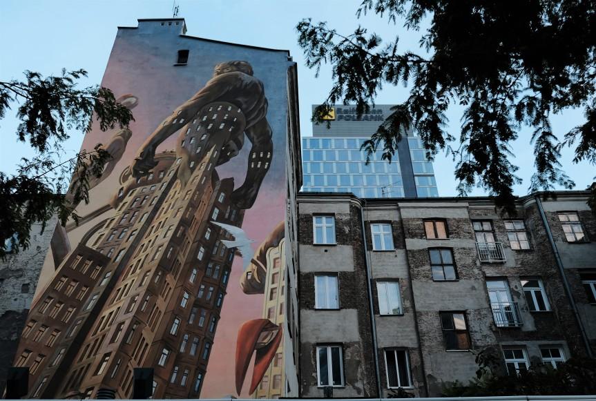 Rafał Olbiński streetart warszawa