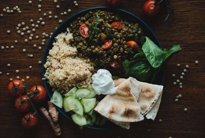 Vegan green lentil spinach dal/Indisk linsgryta medspenat